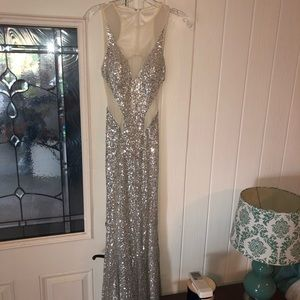 Silver sequence formal dress